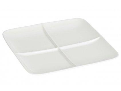 Bílý porcelánový servírovací talíř Laforma Nalea 24,8 x 24,8 cm
