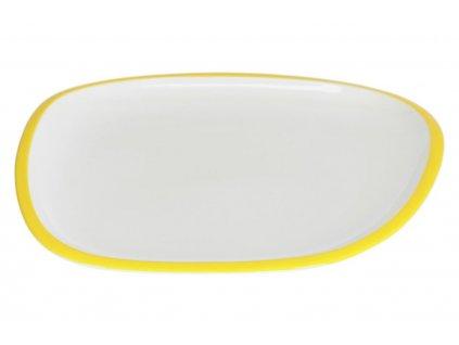 Bílo žlutý porcelánový talíř LaForma Odalin