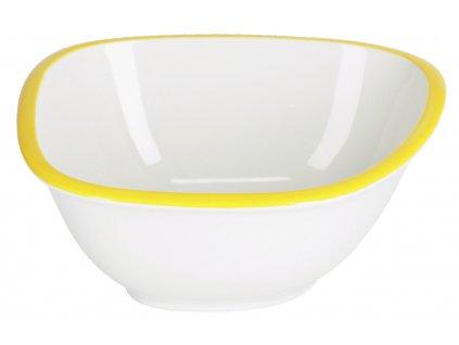 Malá bílo žlutá porcelánová miska LaForma Odalin