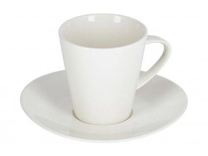 Bílý porcelánový šálek a podšálek LaForma Pierina Ø 14,5 cm