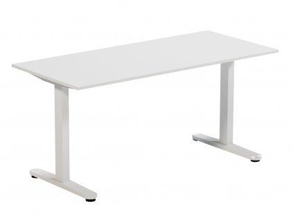 Bílý pracovní stůl FormWood Thia 135 x 70 cm
