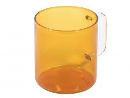 Oranžový skleněný hrnek LaForma Coralie