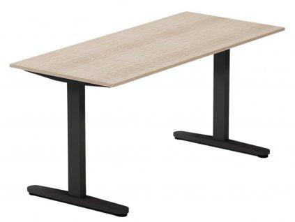Dubový kancelářský stůl FormWood Thor 135 x 70 cm s černou podnoží