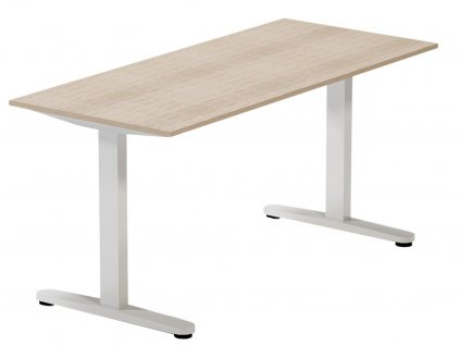 Dubový kancelářský stůl FormWood Thor 135 x 70 cm s bílou podnoží