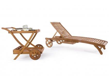Akátový zahradní servírovací vozík Bizzotto Noemi