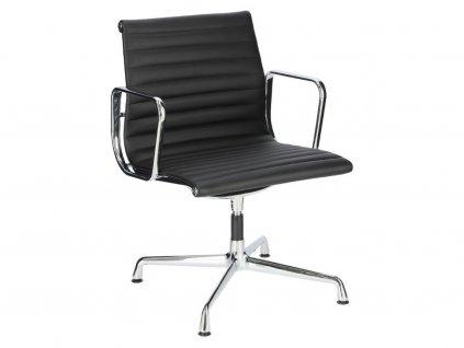 Černá konferenční židle Aluminium Group 108