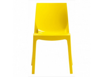 Designová židle Simple Chair žlutá