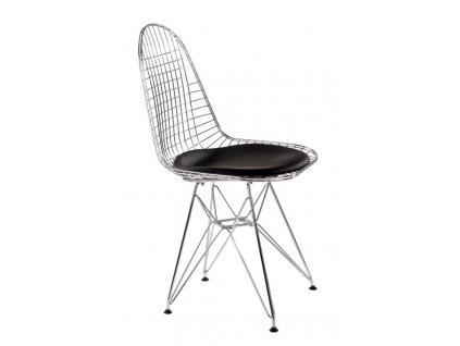 Černá kovová židle DKR