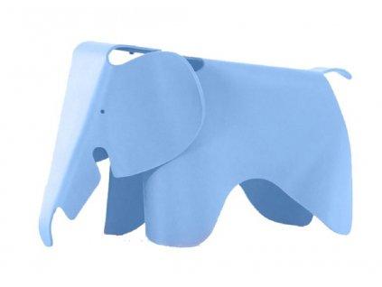 Modrá plastová dětská stolička Slon