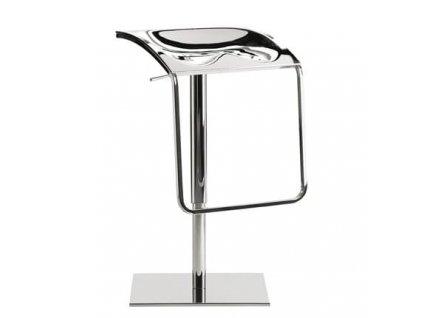 Stříbrná kovová barová židle Arod 570 54-80 cm