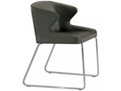 Moderní designová čalouněná židle Leila 682