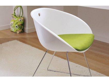 Bílá plastová jídelní židle GLISS 920
