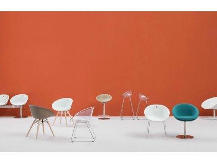 Světlá plastová židle GLISS 920