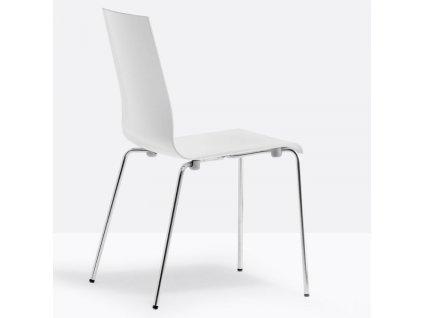 Bílá plastová židle Kuadra 1151
