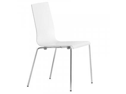 Bílá plastová jídelní židle Kuadra 1151