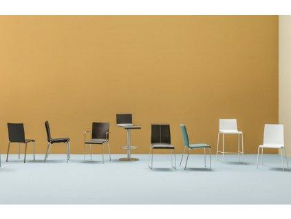Béžová plastová židle Kuadra XL 2403