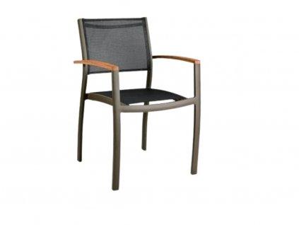 Černá látková zahradní židle Clar