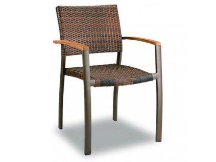 Zahradní designová židle Clar, ratan