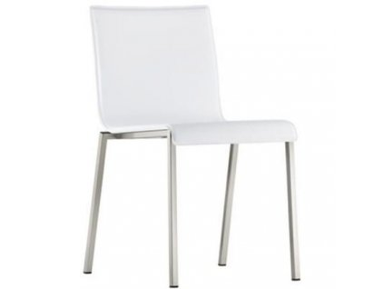 Bílá čalouněná židle Kuadra XL 2461
