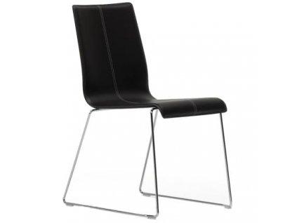 Černá kožené židle Kuadra 1298