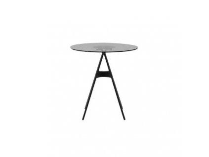 Černý odkládací stolek MARBET LOBO NP 70 cm