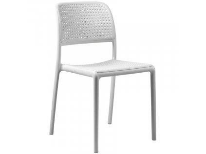 Bílá plastová zahradní židle Bora