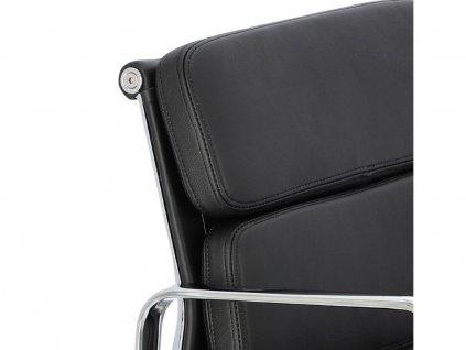 Kancelářská židle Soft Pad 217, černá kůže/chrom