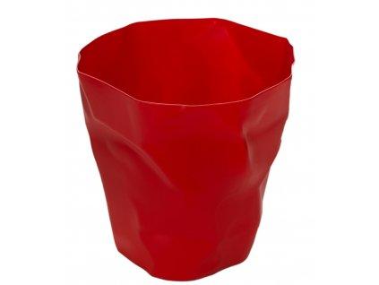 Červený plastový odpadkový koš Crum