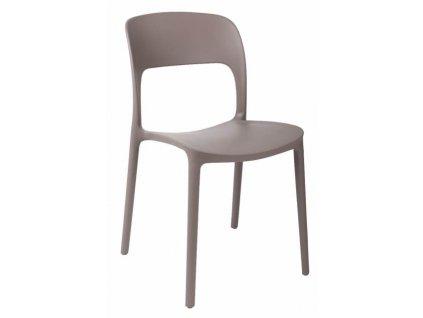 Béžová plastová jídelní židle Lexi