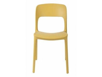 Žlutá jídelní židle Lexi