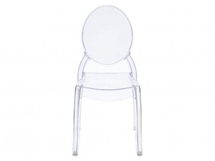 Designová židle Ghost II., transparentní