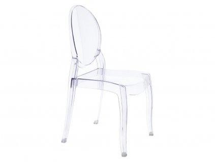 Transparentní plastová jídelní židle Ghost