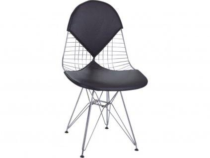 Černá kovová jídelní židle DKR Siluet