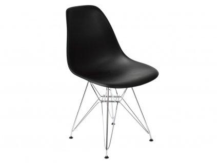 dsr černá jídelní plastová židle