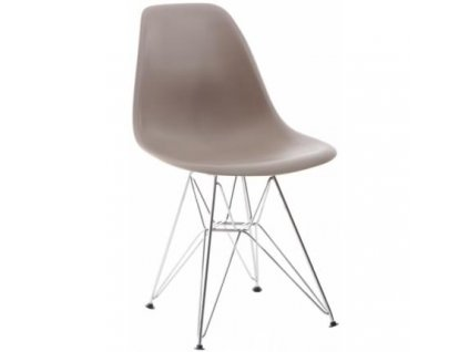 Plastová židle DSR v provedení cappuccino
