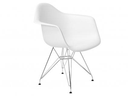 Bílá plastová židle DAR