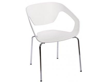 Bílá plastová židle Sambuci