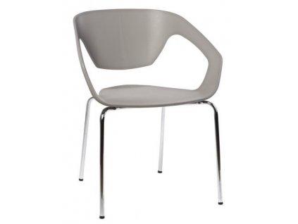 Šedá plastová židle Sambuci