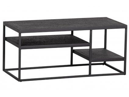 Černý kovový konferenční stolek Fabe 90 x 45 cm