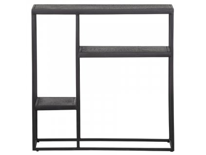 Černý kovový regál Fabe 76 x 76 cm