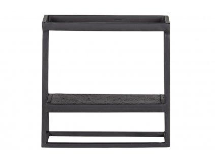 Černá kovová police Fabe 40 x 40 cm