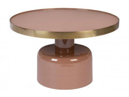 Růžový kovový konferenční stolek ZUIVER GLAM 60 cm