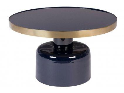 Modrý kovový konferenční stolek ZUIVER GLAM 60 cmNávrh bez názvu