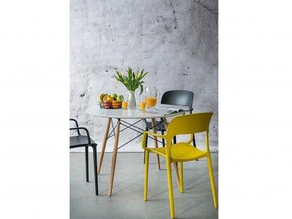 Jídelní židle Lexi s područkami, žlutá