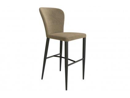 Béžová látková barová židle Miotto Pavia s kovovou podnoží 72 cm
