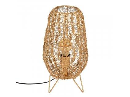 Zlatá stolní lampa DUTCHBONE FILO 35,5 cm