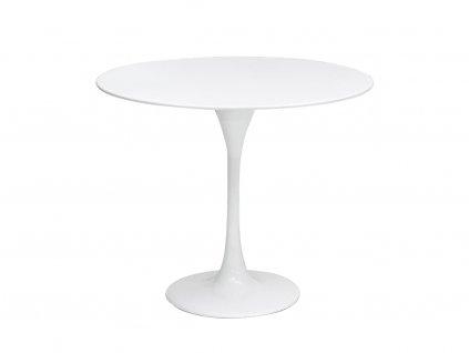 Bílý kulatý konferenční stůl Tulip, 60 cm