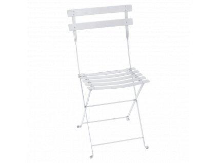 Bílá kovová skládací židle Fermob Bistro