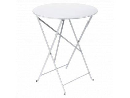 Bílý kovový skládací stůl Fermob Bistro Ø 60 cm