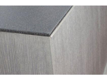 Světle šedá dubová komoda Miotto Constanza s kovovou podnoží 150 x 45 cm